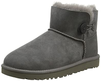 UK Shoes Store - UGG Bailey Button Mini W'S Mini Bailey Button Boots woman gray (gray)