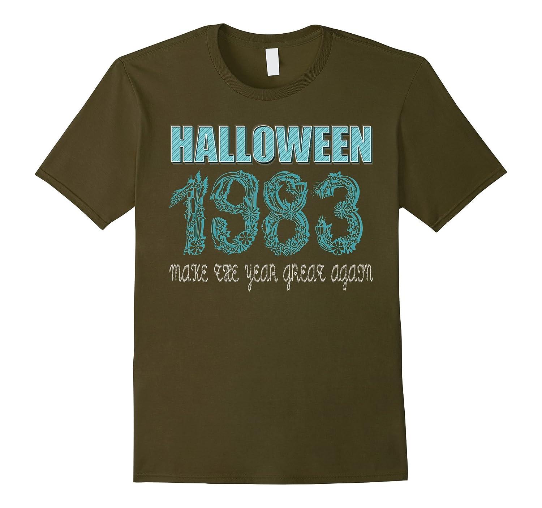 34 th Birthday shirt Halloween costume ideas 1983 T-shirt-FL