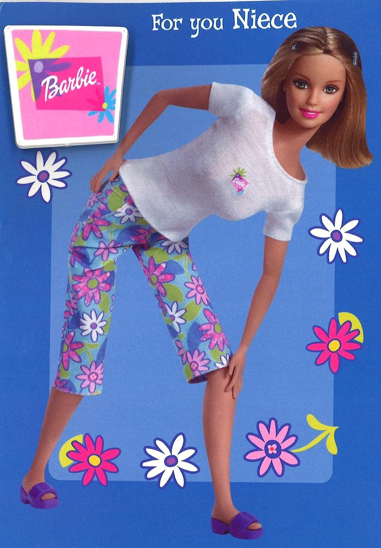 Barbie Niece - Tarjeta de cumpleaños con insignia y sobre ...