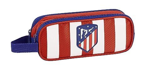 Atlético de Madrid Estuche portatodo Doble 2 Cremalleras Escolar.