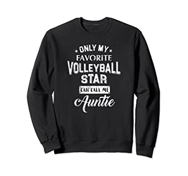 Amazoncom Proud Volleyball Aunt Sweatshirt Cute Sayings Gift