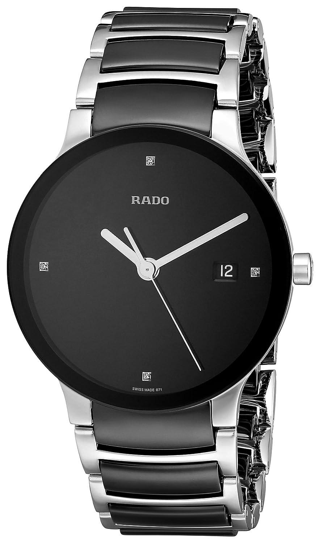Rado Women s R30934712 Centrix Black Ceramic Bracelet Watch
