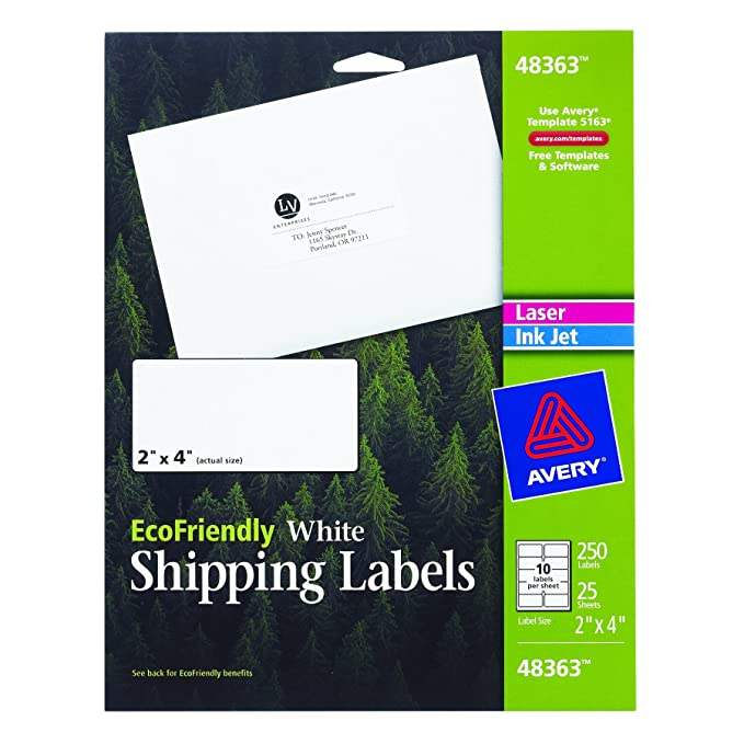 Avery Mailing Labels For Laser And Ink Jet Printers 2
