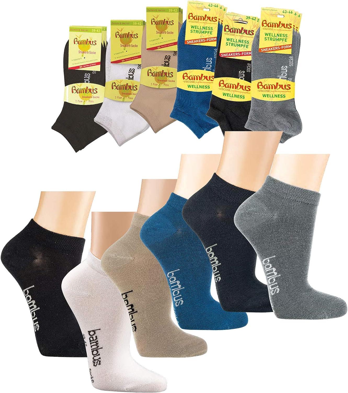 3-15 Paar Bambus Socken verstärkt für längere Haltbarkeit für Damen Herren WO