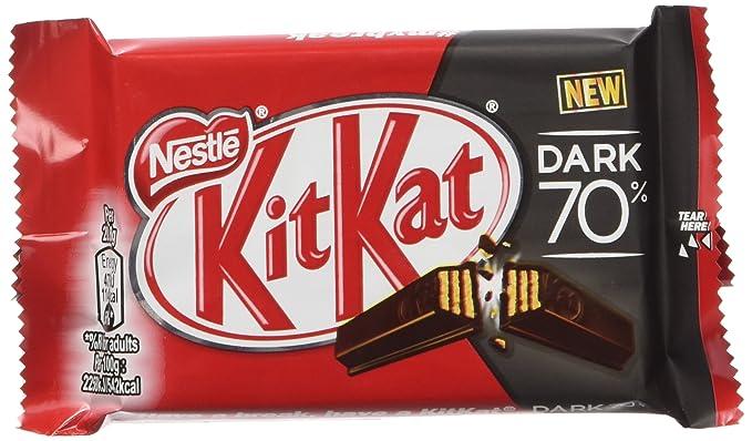 Nestlé Kit Kat Chocolate Negro 70% - Barritas 3 x 24 x 41,5
