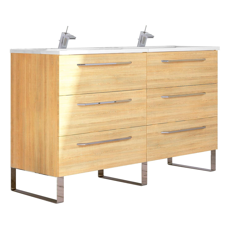48 X 18 Bathroom Vanity.Amazon Com Randalco Modern Double Bathroom Vanity Cabinet