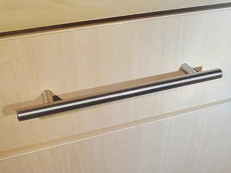 20 x brushed steel t bar kitchen door handles 192mm hole centres - Kitchen Door Handles