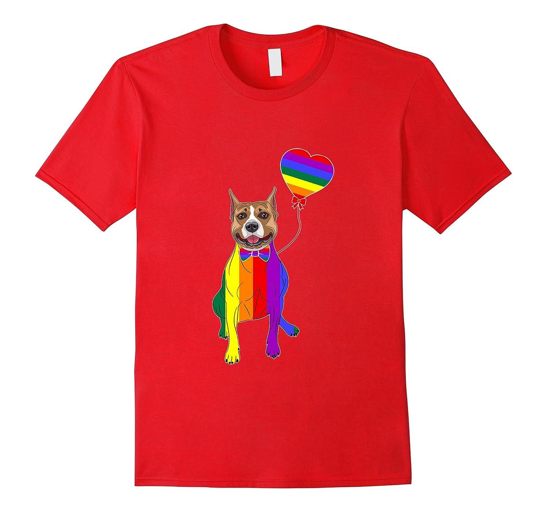 American Pit Bull Terrier LGBTQ 2017 Rainbow Gay Lesbian-Art
