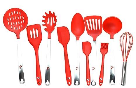 Magnus Home – Set di 10 utensili da cucina in silicone ...