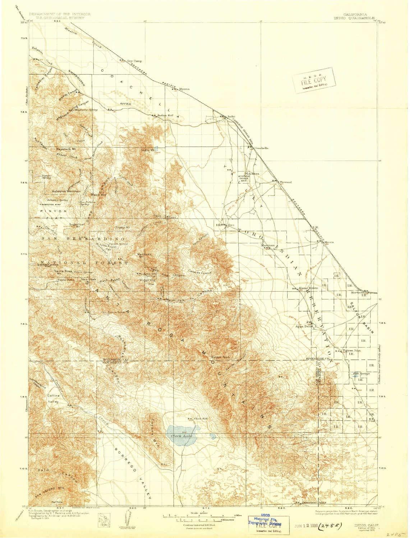 Map Of California Indio.Amazon Com Yellowmaps Indio Ca Topo Map 1 125000 Scale