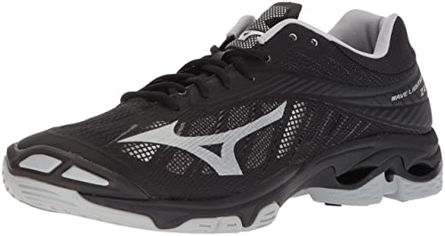 d4136fc2bcb8 Mizuno Wave Lightning Z4 Volleyball Shoes, Black/Silver, Men's 7 ...