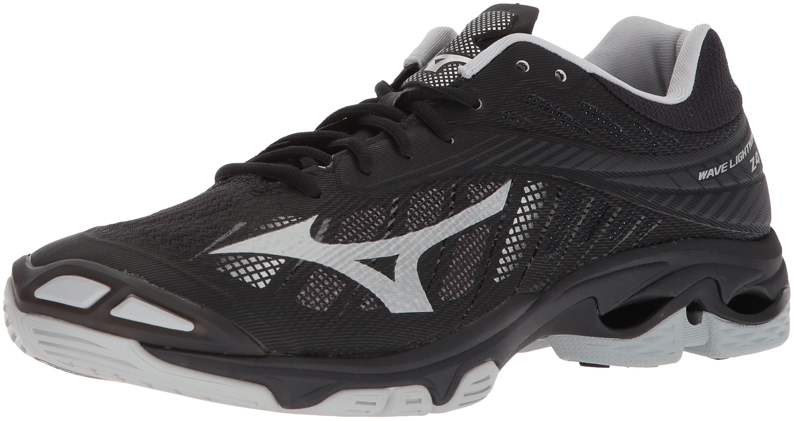 Mizuno Men's Wave Lightning Z4 Volleyball Shoe, Black/Silver, Men's 17 D US
