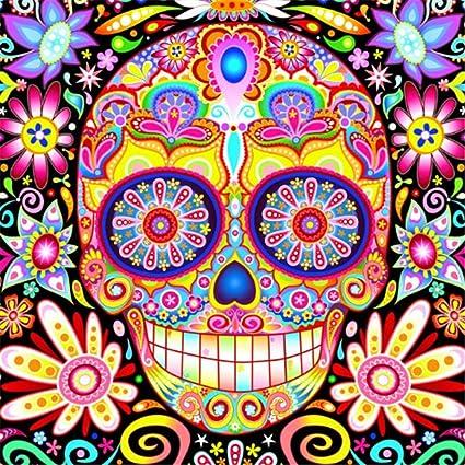 Amazon.com: Halloween Cross Stitch Skeleton Mosaic Painting ...