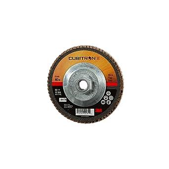 Cubitron II 64382 3M Flap Disc 969F Polyester Film Backing T27 7 x 7//8 40+ YF-weight Precision SHAPED Ceramic Grain Abrasive Grit 7 Diameter T27 7 x 7//8 40+ YF-weight 7 Diameter