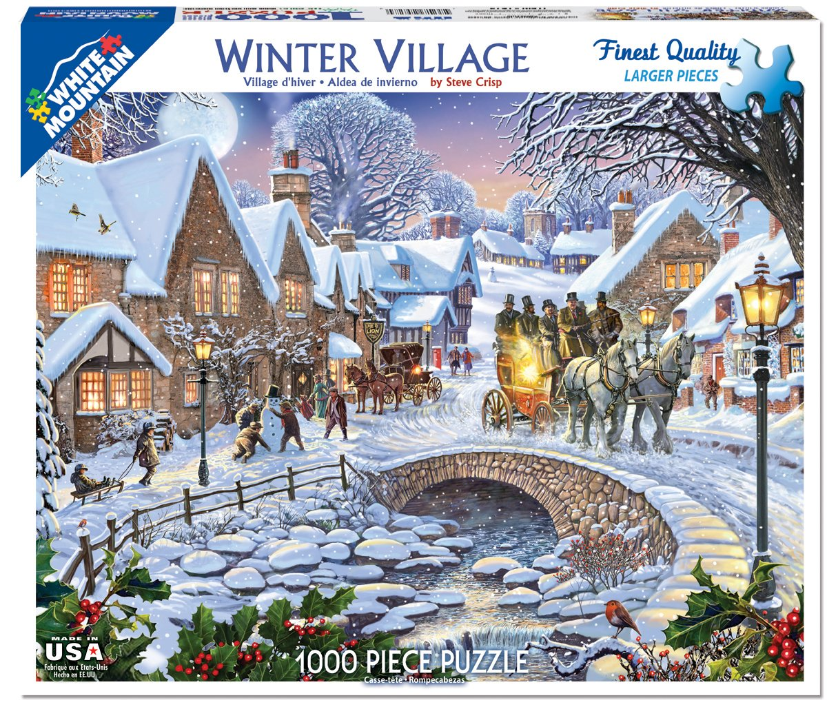1000 Piece Jigsaw Puzzle-I Love Hiver Gibsons