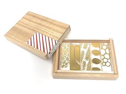 toumei palillos y reposa cubiertos (japonés tradicional Set de regalo de 5 (Haku)