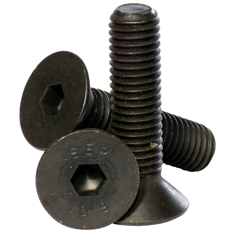 Bolt Base Senkkopfschraube mit Innensechskant Hochfest 10.9 Materialfarbe Schwarz - 6mm // M6 x 30 mm DIN 7991-50 St/ück