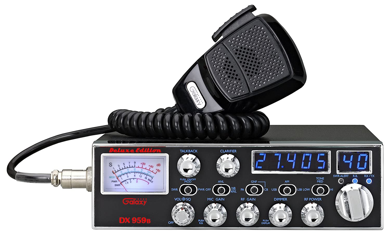 Galaxy Dx 959 40 Channel Am Ssb Mobile Cb Radio With Wiring Frequency Counter Cell Phones Accessories