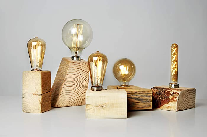 Amazon com: Wooden Desk Lamp made from Reclaimed Pallet