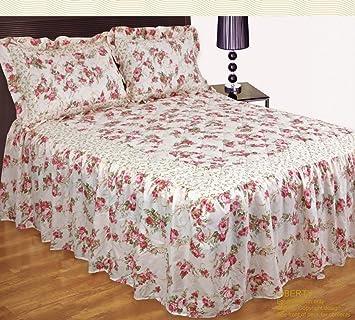 Liberty rose motif fleurs roses couvre lit jeté de lit double avec