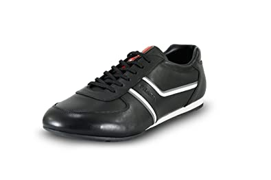 b2cba29c1b0a Prada Men s 4E2735 O3Y F0A64 Black Leather Sneaker EU 6.5 (40