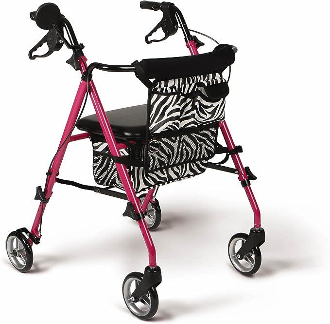 Amazon.com: Andador de lujo de aluminio plegable con ruedas ...