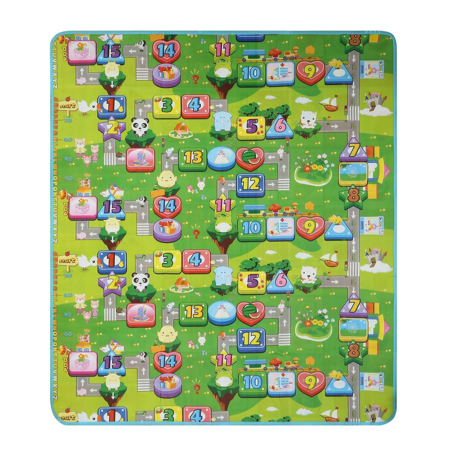 Garwarm 7159inches Extra Large Baby Crawling Mat Baby Play Mat Game Mat,0.2-Inch Thick (US STORE) by Garwarm (Image #4)