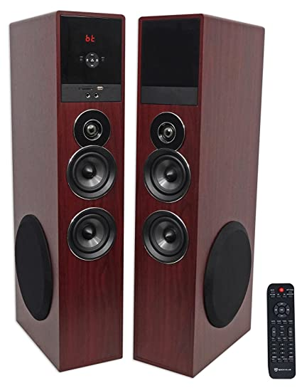Excellent Amazon Com Rockville Tm80C Cherry Powered Home Theater Tower Wiring 101 Picalhutpaaxxcnl