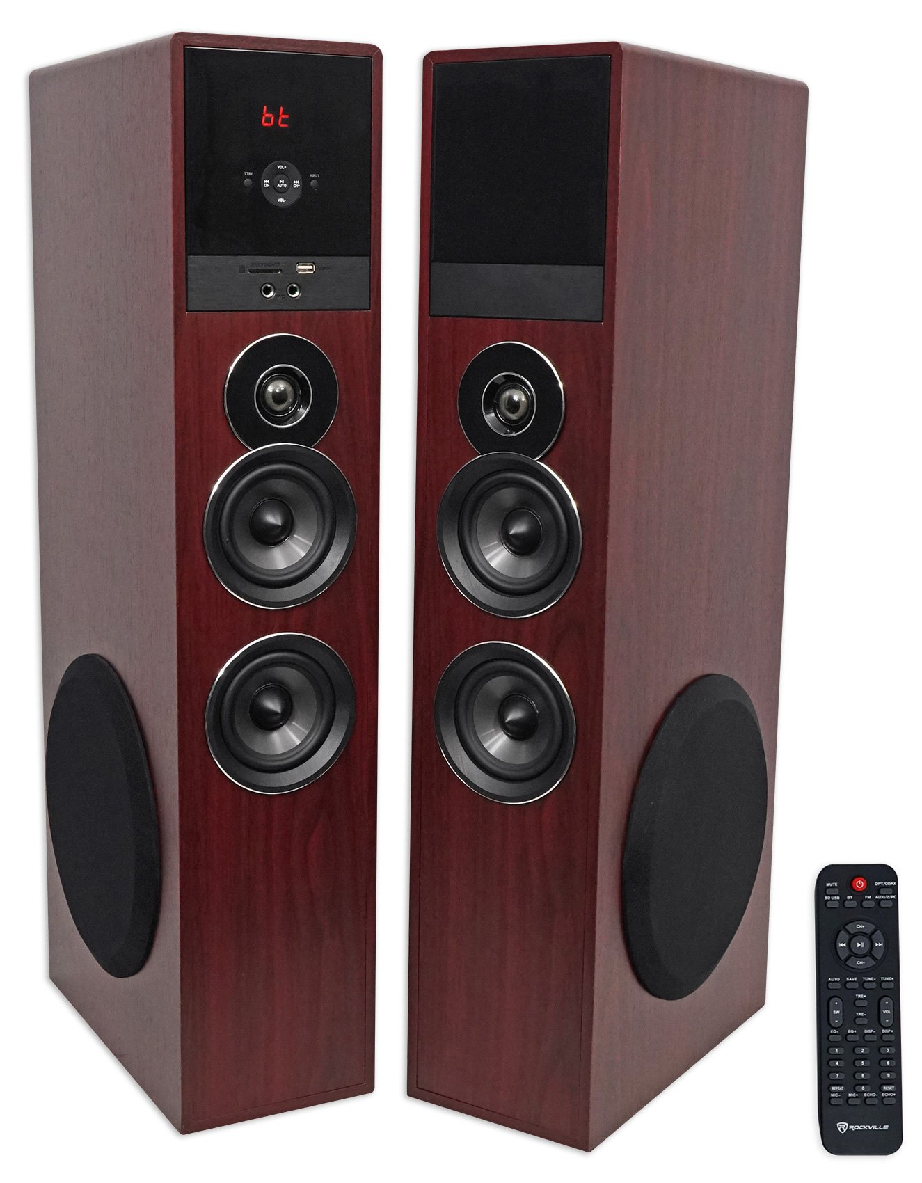 Rockville TM80C Bluetooth Home Theater Tower Speaker System+(2) 8'' Subwoofers