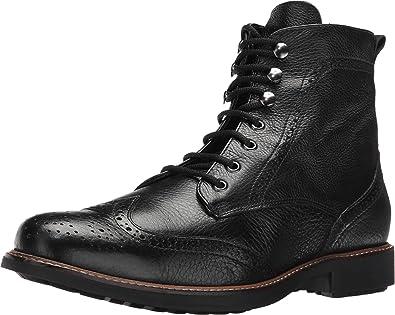Massimo Matteo Men's Perf Wing Boot Black Boot