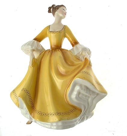 c1982 Royal Doulton figurine HN2807 - Stephanie - Gold or yellow
