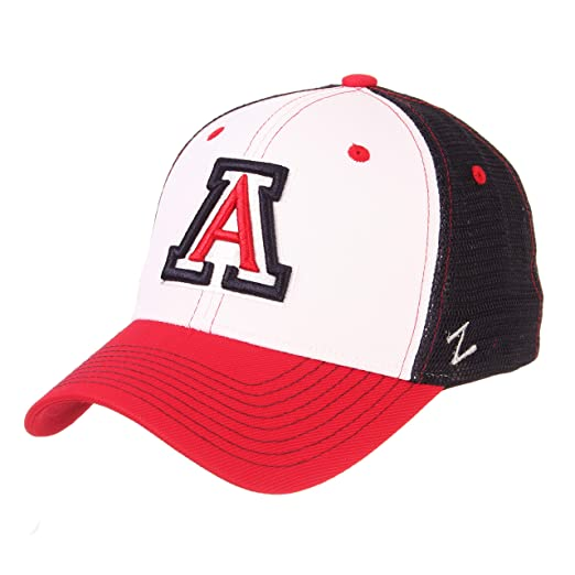 buy online 5ac9f 2c44e Zephyr NCAA Arizona Wildcats Mens Threepeatthreepeat Relaxed Cap,  White Team Color, Adjustable