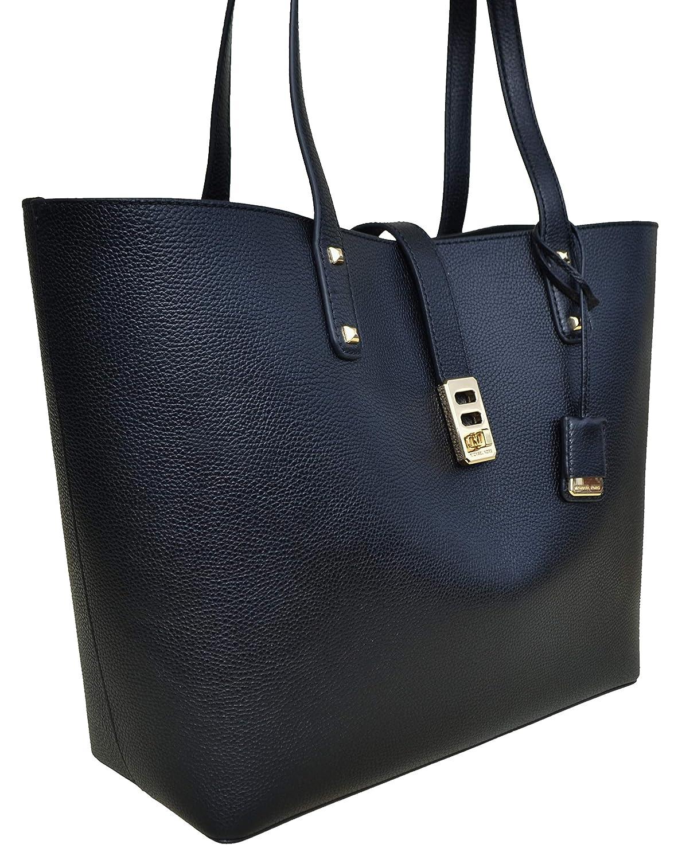 Amazon.com  Michael Kors Karson LG Carryall Tote Leather Black  (35T8GKRT3L)  Shoes 6f7ddd9cd0802