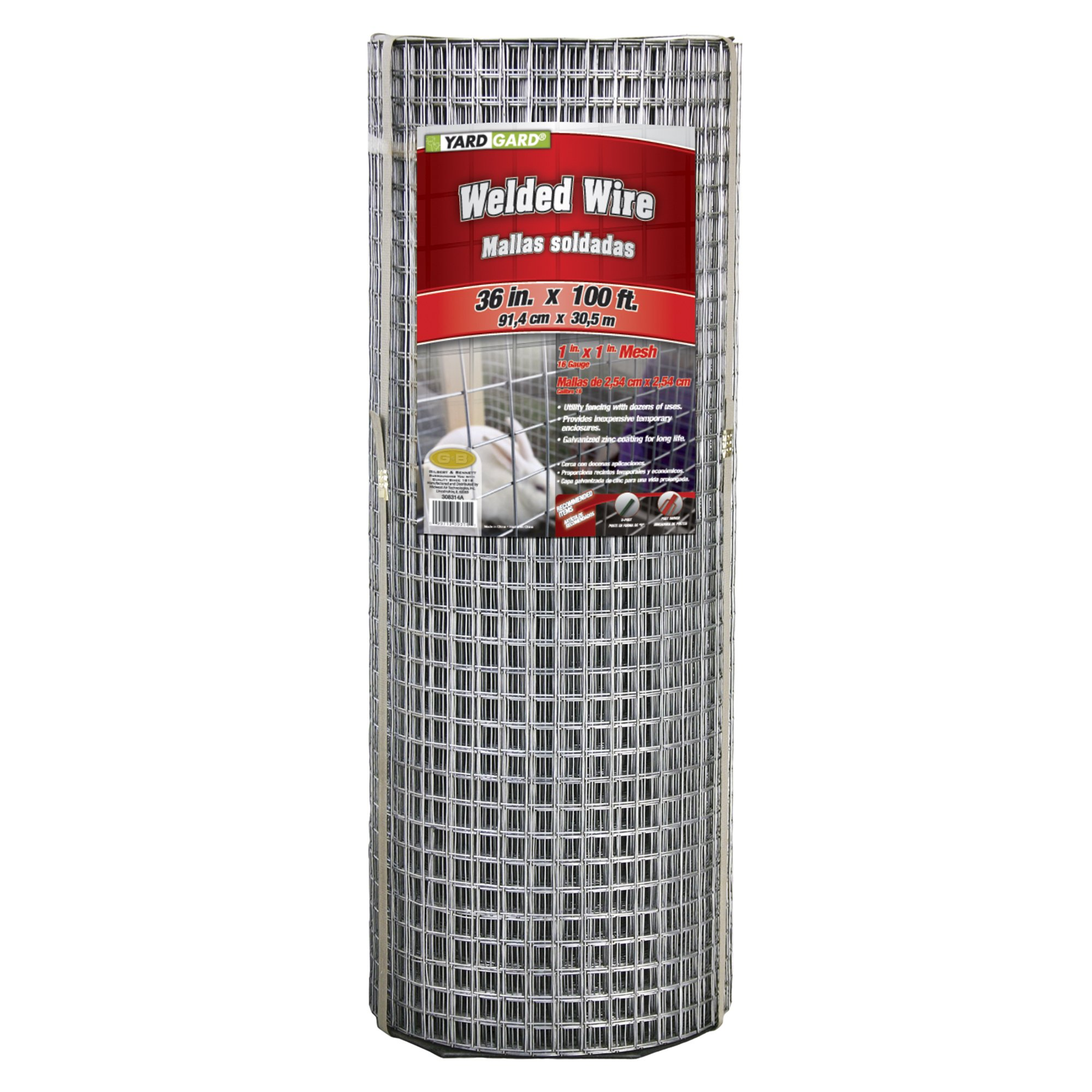 YARDGARD 309314A Welded Wire, 36'' by 100 Foot, Color - Galvanized