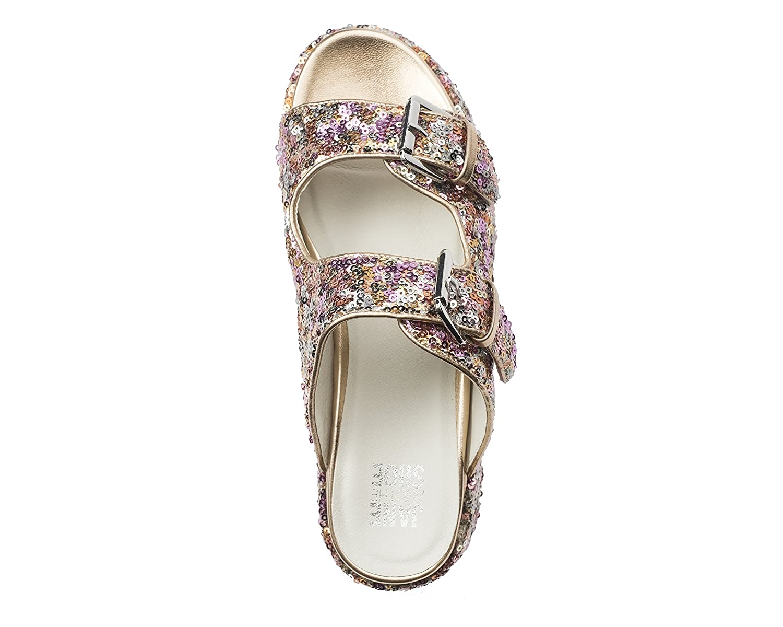 Jane and the Shoe Women's Jordan 2 B07BYTVDXC Buckle Sequin Platform Sandal B07BYTVDXC 2 8 M US|Rose Gold Sequin 428a03