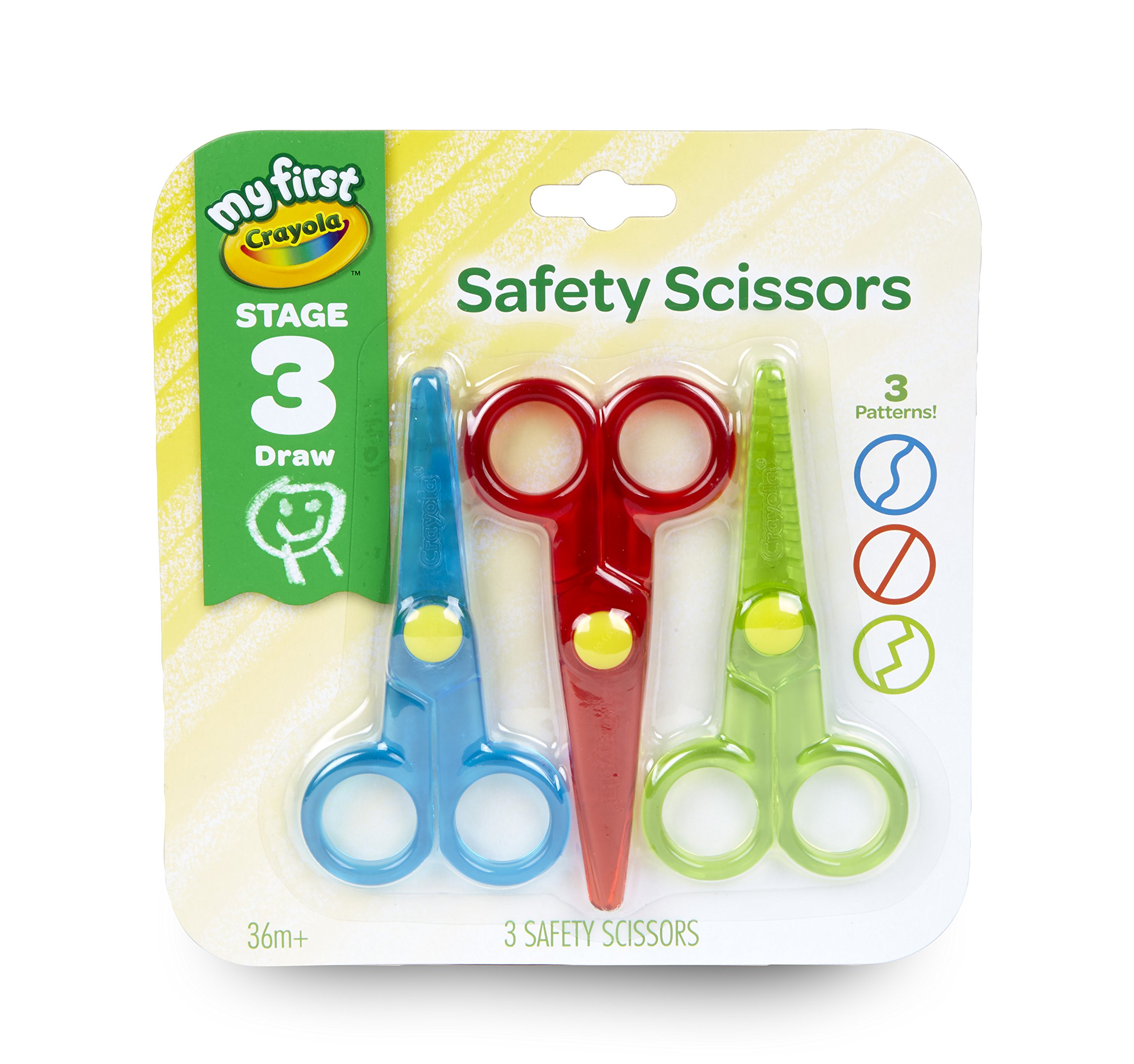 Plastic Scissors Safety Round Head Scissors For Kids Students Paper Cutting Supplies For Kindergarten School Durable Modeling Office & School Supplies