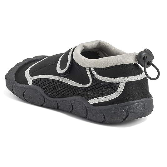 Mujer Ligero Suela De Goma Agua Navegar Nadar Aqua Mar Piscina Playa Zapatos - Negro/Gris - EU36/ UK3 - DR0044: Amazon.es: Zapatos y complementos