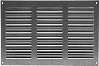 Ventilation Grill Ventilation Grille with Insect Protection, 300x200 mm, Zinc, Metal, MR3020ZN