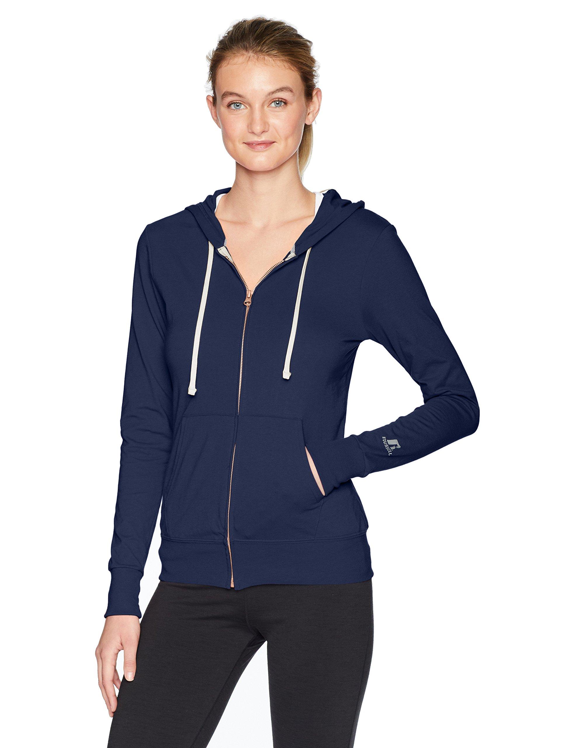 Russell Athletic Women's Essential Full Zip Jacket, Navy, Medium