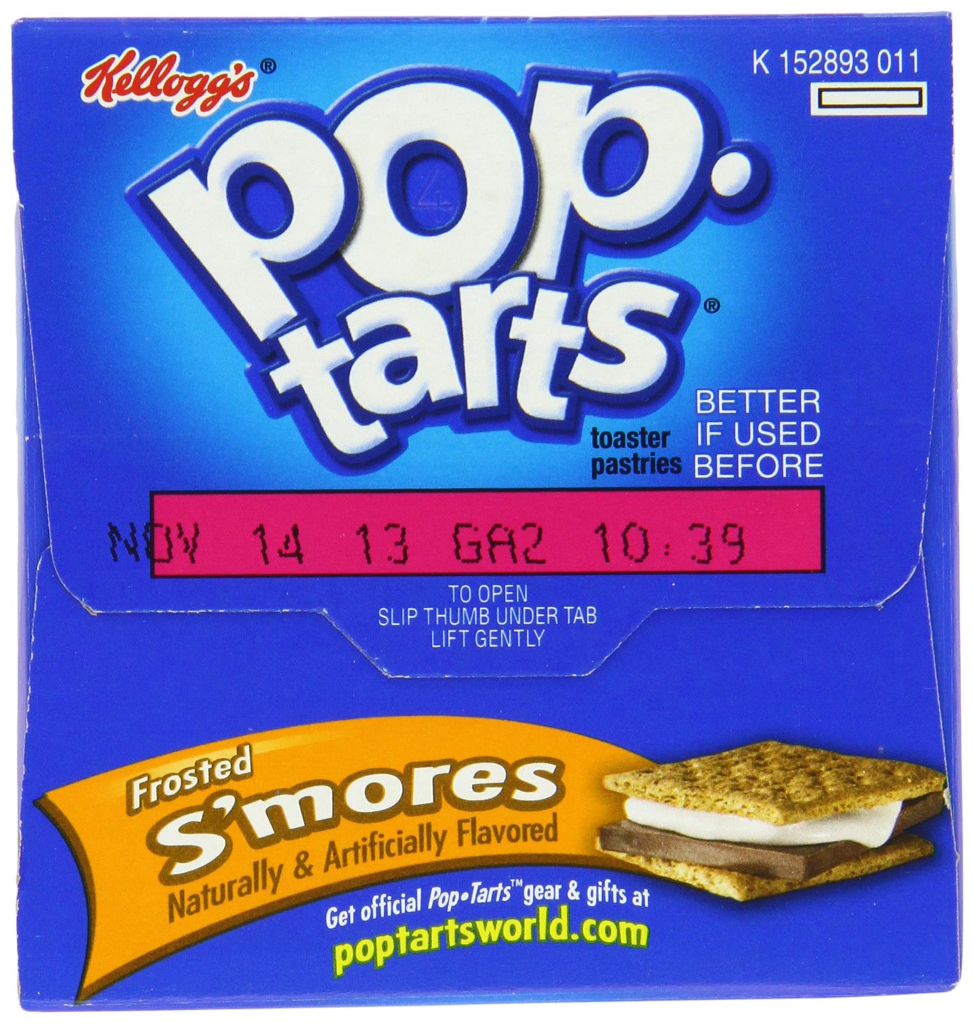 Kellogg's, Pop-Tarts, Frosted S'mores, 8 Count, 14.7oz Box (Pack of 6)
