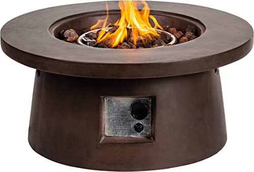 SIUSUMFO Fire Pit, 29.5 Inch Outdoor Patio Firepit, 50,000 BTU Fire Pits Tables Set for Outside Garden, Camping Bonfire, Yard, Picnic,Backyard, Balcony, Park, Beaches with Lava Rocks