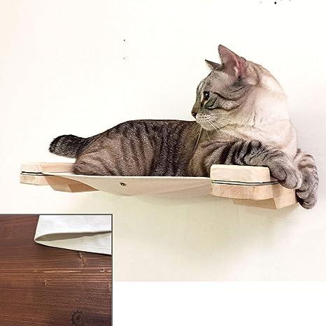 CatastrophiCreations Estantería para Gatos con Forma de Gato (Madera de castaño inglés, Talla única