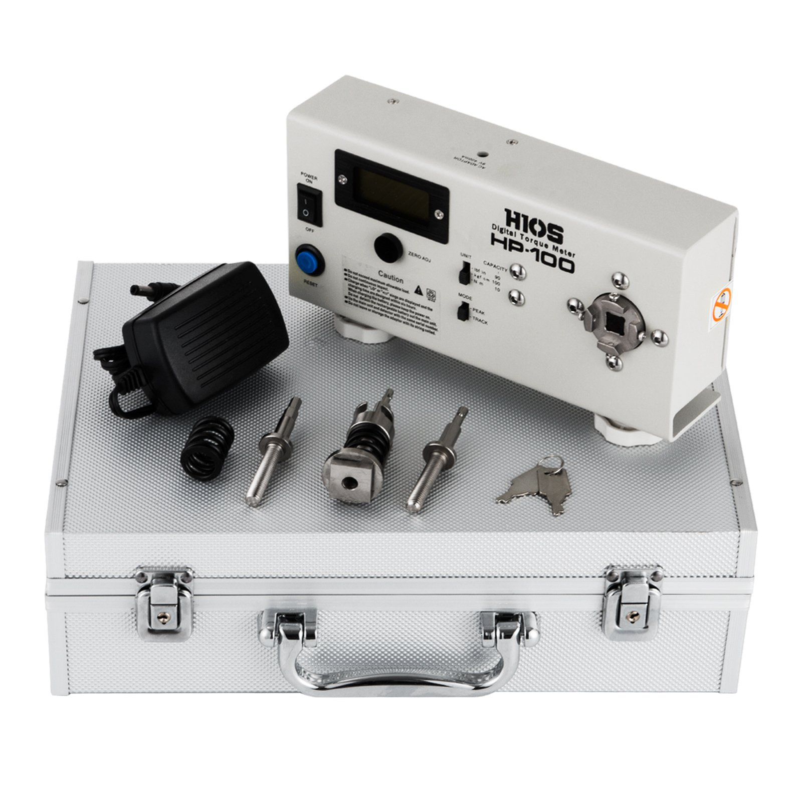 Mophorn Digital Torque Meter HP-100 Wrench Measure Tester Screw Driver +-0.005 Precision Portable LCD Digital Torque Tester Torsion Meter Tester Testing Instrument Torque Meter (HP-100)