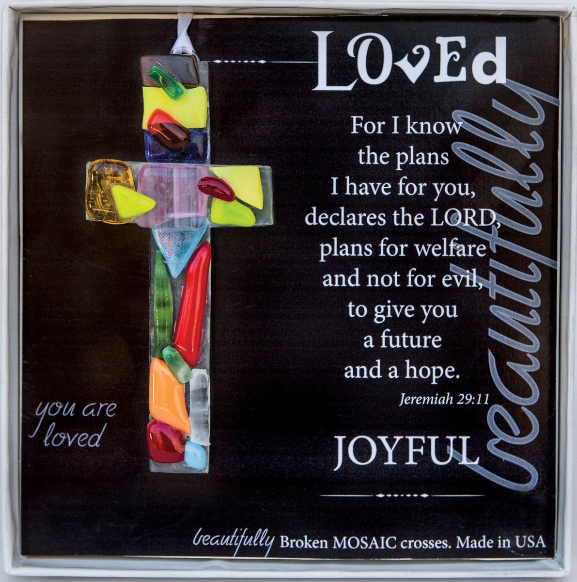 Inspirational Gift: Handmade Mosaic Glass Gift Cross
