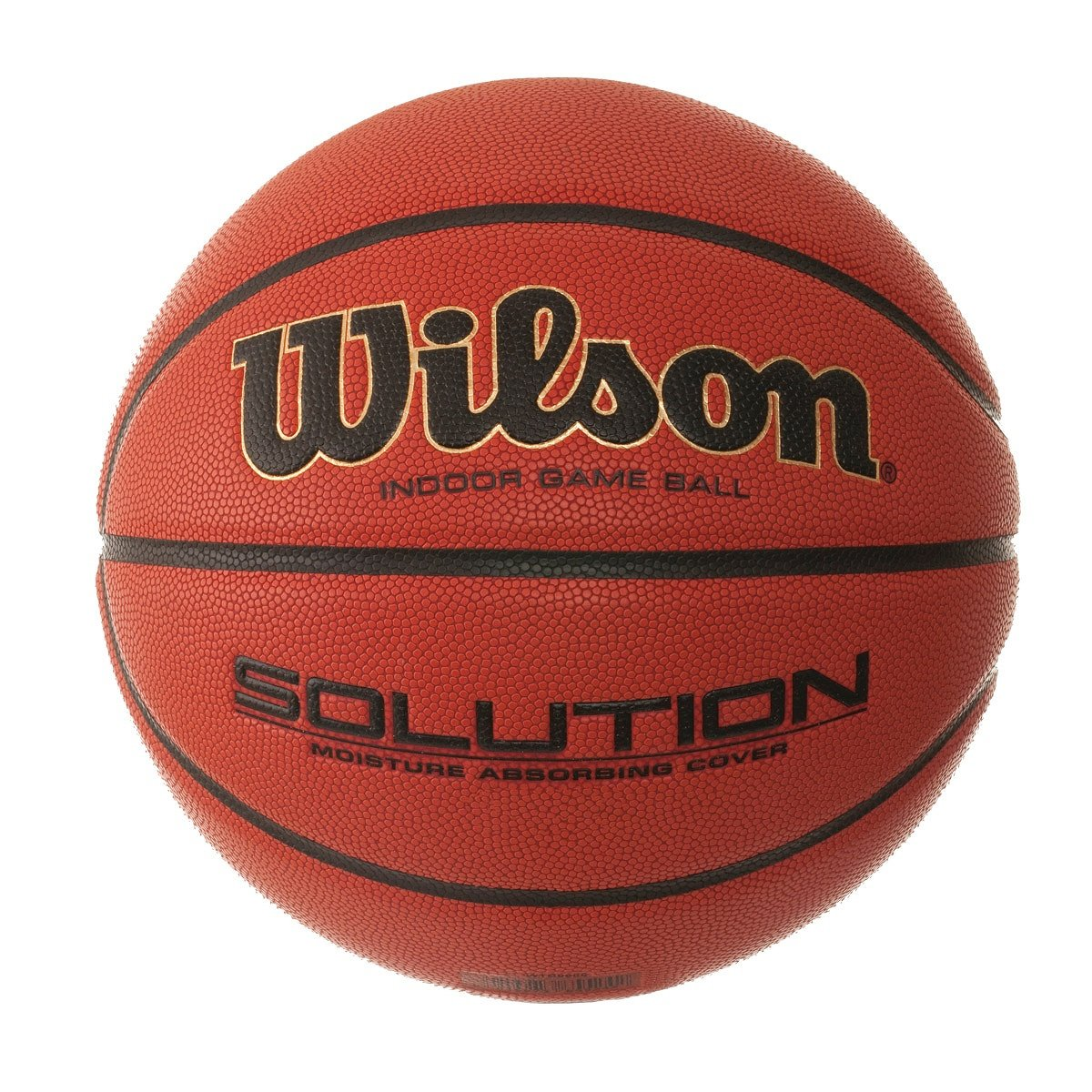 Wilson Indoor-Basketball, Wettkampf, FIBA zugelassen, Sportparkett, Granulat, Linolium- oder PVC-Boden, Solution Game Ball