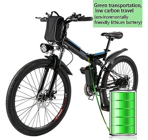 AMDirect Bicicleta de Montaña Eléctrica Bici Plegable Ebike con ...