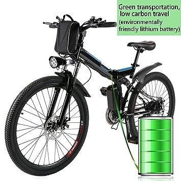 zokeo montaña Mountain Bike 250 vatios 36 V Shimano 26 Bicicleta eléctrica Plegable montaña 7
