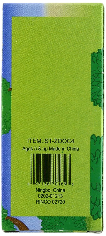 12 Boxes of Crayons Zoo Animal Box 4 Per Box Rhode Island Novelty STZOOC4