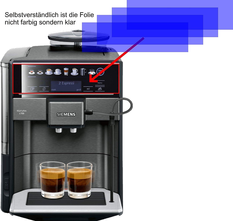 4X Crystal Clear klar Schutzfolie f/ür Siemens TE657509DE S700 Kaffeevollautomat Displayschutzfolie Bildschirmschutzfolie Schutzh/ülle Displayschutz Displayfolie Folie