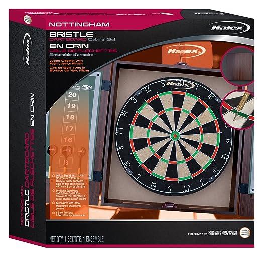 Amazon.com : Halex Nottingham Bristle Dartboard With Cabinet : Sports U0026  Outdoors
